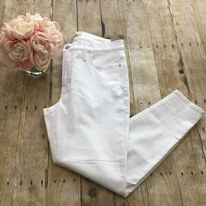 """Madewell 9"""" High Rise Ivory Skinny Jeans- Size 32"""